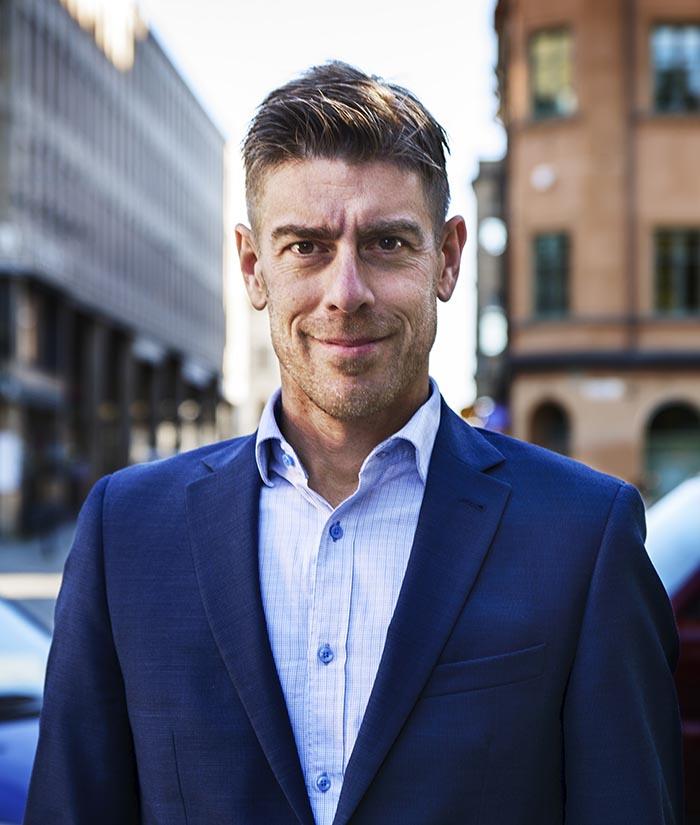 Porträttbild på Kalle Sandhamnar
