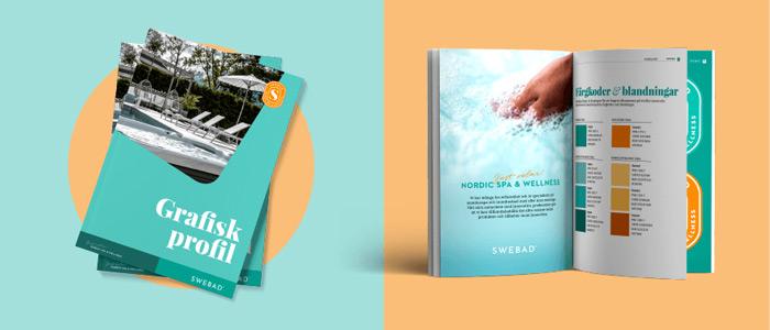 Grafiskt profilmaterial för Swebad. magasin